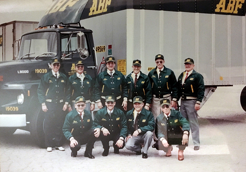 Members of the 1990 ABF Freight Road Team include James Allison, Jerry Blair, Myron Copenhaver, John Holland, Kenneth House, Charles Middleton, ...