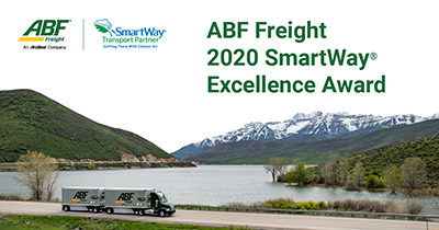 ABF Freight Receives 2020 SmartWay Excellence Award