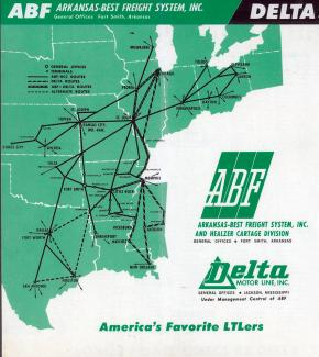 Throwback Thursday: 1962 — ABF Freight-Delta System Map Shows Expansion