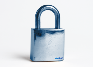 Padlock depicting ArcBest cargo security