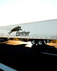 Panther truck on highway
